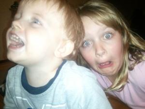 My crazy kids.