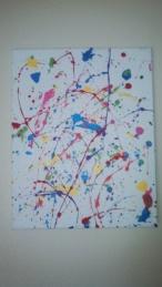 12x16 Red/Pink/Blue/Purple/Green/Yellow splatter ($10)