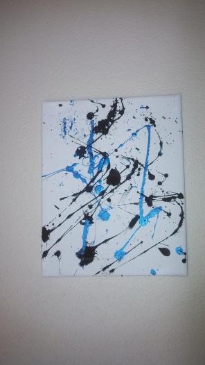 8x10 Black/Blue splatter ($5)